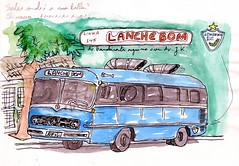 Onibus de Lanche (Alexander Lermen) Tags: lanche londrina veiculos urbansketchers
