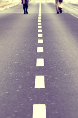 Fast Lane (C_MC_FL) Tags: vienna wien road street two people canon vintage walking photography spur eos austria sterreich focus fotografie leute dof view angle pov linie fav20 retro line pointofview lane straight tamron fav30 zwei gettyimages gehen schrfentiefe gerade fokus softtones dephtoffield fav10 blickwinkel tiefenschrfe strase 18270 60d schrfeverlauf b008 strasenspur