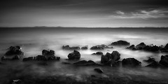 silences & little melodies (Cwithe) Tags: sea sky white black art water canon island photography landscapes long exposure image horizon fine minimal slovenia silence land scape 169 mitja kobal cwithe mitjakobal