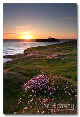 Godrevy sunset (Simon Bone Photography) Tags: sea sky cloud sun lighthouse reflection silhouette cornwall godrevy cornishcoast canon1740mmlf4 cornishsunsets wwwthehidawaycouk canoneos7d hitechnd09reversegrad