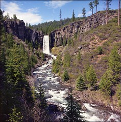 Tumalo Falls (GoneApey) Tags: 120 film oregon analog waterfall or falls medium format tumalo