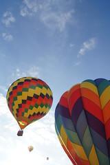 Follow the Leader (enveehaze) Tags: sky clouds flying colorful lift floating hotairballoons 522012 52weeksthe2012edition weekofjune10