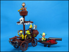 Springfield pirates take to the streets (Karf Oohlu) Tags: skull lego pirates simpsons krusty mrburns granpa apu pirateship moc nedflanders jandship