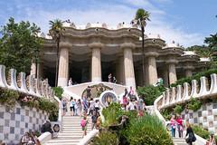 Park Guell Barcelona (Amren1985) Tags: barcelona park city summer beach spain sand gaudi guell 2014