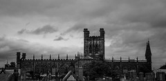 Chester Cathedral (Davescunningplan) Tags: chester cheshire cathedral religious building architecture wide blackandwhite