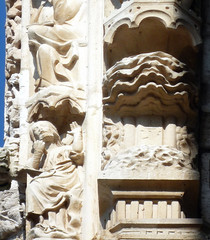 Chartres, North Porch Archivolt with detail of Creation