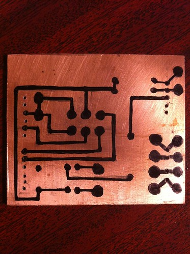 Board ready to etch