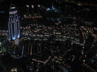 Dubai at Night - The Address Hotel - United Arab Emirates
