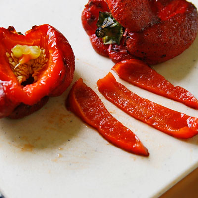 Grilled Roasted Red Peppers - body