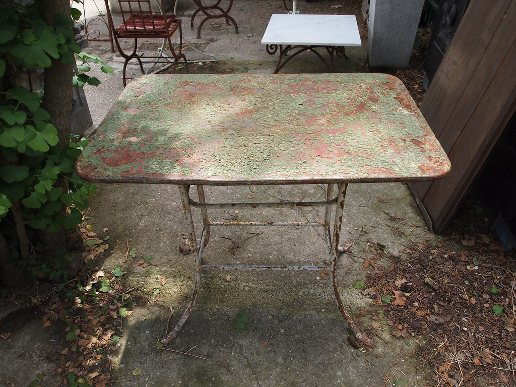 reclaimed garden table