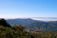 Mt. Diablo State Park - Sunol Peak and Diablo Valley under the fog