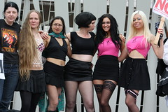 Edinburgh: Slutwalk 2011 (chairmanblueslovakia) Tags: city stockings scotland women edinburgh slut capital protest scottish parliament fishnet mini skirt rape demonstration socialist glam feminism worker anti feminist midriff barbers slutwalk