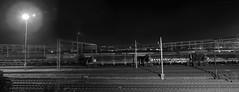No more I promise (Beetwo77) Tags: bw panorama night canon stitch pano sydney trains panoramic 7d stitching railyard 70200 stitched giga autopano autopanogiga gigapanepicpro