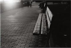 Don't Let Me Down (s0phi3 / ) Tags: bw rome film analog 35mm bench blackwhite sannicola flare canonae1program biancoenero panchina 50mmf18 pellicola analogico