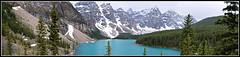 Moraine Lake Panorama (Carplips) Tags: blue panorama lake canada mountains alberta banff lakemoraine