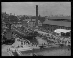 USS Constitution in Navy Yard (Boston Public Library) Tags: maritime oldironsides ussconstitution frigates lesliejones
