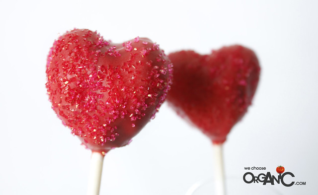 heart shaped cake pops - valentines day, birthday