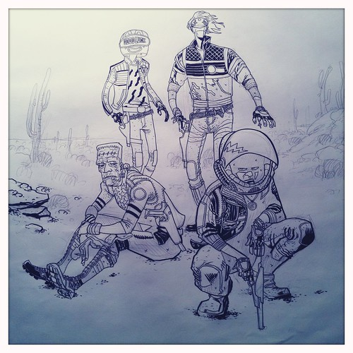 Killjoys pinup - half inked
