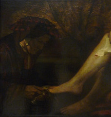 Rembrandt, Bathsheba at Her Bath with detail of attendant