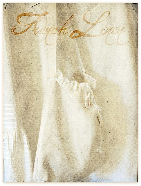linen bag with Kim Klassen's kk canvas back set