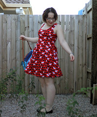 swinging it (mymodernvintage) Tags: scottydog 50sstyle vintagedresses modcloth cutedresses rachelberry satchelbags oasap