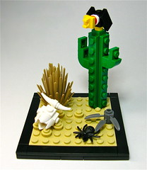 The Wild West (Gabe Umland) Tags: wild cactus west skull spider lego vulture steer vignette 8x8