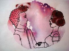 Blob Drawing (theytellmetostop) Tags: pink woman man sketch purple drawing blob sharpie waterpaint