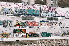 graff  tous les tages (lepublicnme) Tags: streetart paris france film june analog graffiti fuji superia 1600 24 135 36 2012 argentique c41 tages