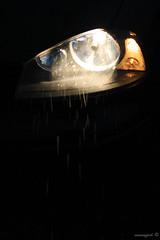 headlight in the rain (Moneyfish.) Tags: auto lightpainting black dutch car rain night canon lights licht photo nacht performance creation headlight lightning lowkey impressive regen 2012 nightpicture donker nachtfotografie lightart kleuren lichten lichtkunst nachtfoto koplamp 550d schittering colourpallet moneyfish
