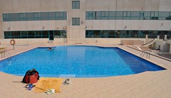 Dubai Hostel's pool. (young shanahan) Tags: dubai uae emirites