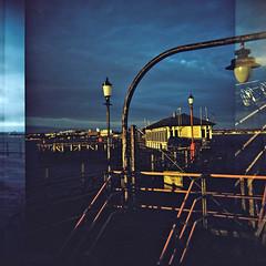 Southend pier (nick richards art) Tags: sea colour 120 thames seaside lomo lomography location estuary 120film diana analogue dianaf essex southend analoguephotography