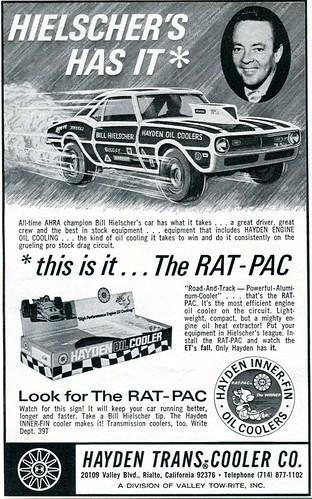 hot october advertisement oil rod hayden 1970 cooler ratpac senseialan