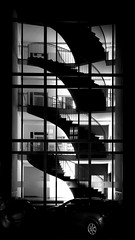 staircase at night [EXPLORE 2014-05-05] (pix-4-2-day) Tags: staircase night treppenhaus treppe nacht schwarzweis black white pix42day explore explored stairway