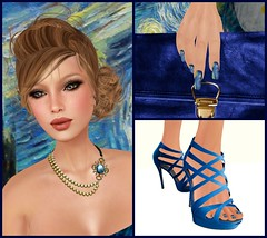 FashionArt Fair exclusives (Hidden Gems in Second Life (Interior Designer)) Tags: life art fashion night shoes vincent fair nails second van gogh starry the slink exclusives fashionart