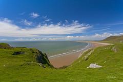 Rhossilli Beach Wales (johnwilly) Tags: beach wales landscape coastline canon5d rhossilli ef1740l bwcpl