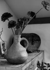 2016_AveyronMaison-14 (LeCanardMasqu) Tags: 2016 aveyron fleurs naturemorte noirblanc objet vacances