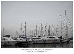 Barques en Blanc i Negre (steelmancat) Tags: bn wb port cambrils barques esportiu canon 5d mark ii 28135