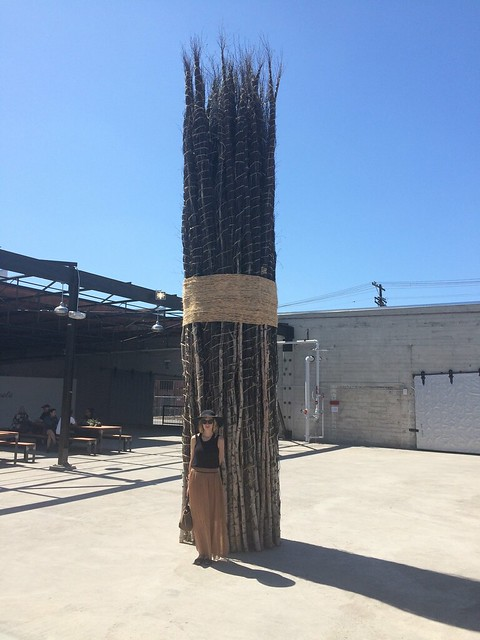 In the courtyard of Hauser Wirth & Schimmel