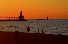 Beach Sunset Michigan City Indiana 9-20-2016 8931 (www.cemillerphotography.com) Tags: washingtonpark gambling sundown dusk recreation evening midwest