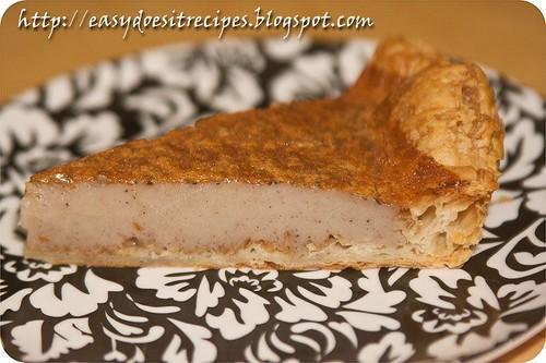 Slice of corsican chestnut flour flan