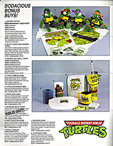 TEENAGE MUTANT NINJA TURTLES :: The Pizza Point Collector's Catalog { Full Colour Edition } pg. 2 (( 199x ))
