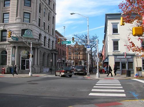 A Street scene in Hoboken