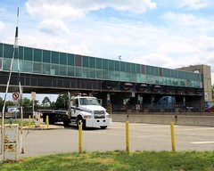 Goethals Bridge Toll Booths, Staten Island, New York City (jag9889) Tags: nyc bridge ny newyork building creek puente newjersey elizabeth crossing