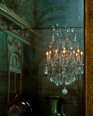 Reflections (Melanie Alexandra Photography) Tags: paris france reflection glass mirror golden interior chandelier versailles royalpalace