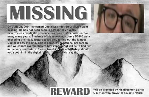 dr o missing poster