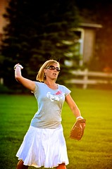 Baseball in a skirt, what's the problem with that