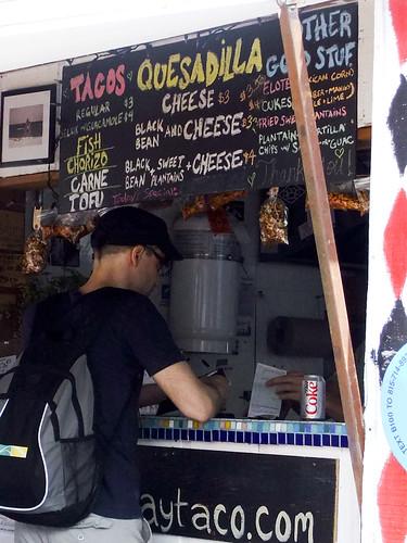 Menu, Rockaway Taco