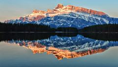 Two Jack Magic (Jeff Clow) Tags: morning lake canada mountains reflection nature landscape bravo albertacanada banffnationalpark twojacklake gpse