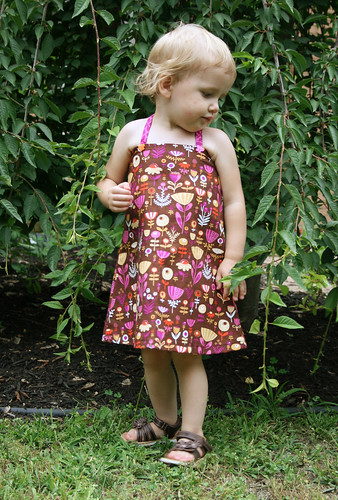 brown flowers dress 5