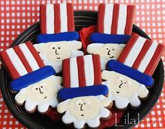 Uncle Sam cookies (LilaLoa) Tags: cookies patriotic 4thofjuly unclesam